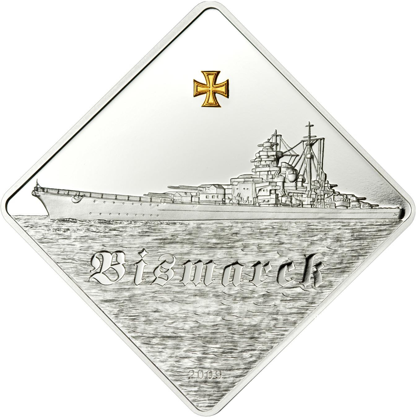 Münze Coin Invest Trust Cit Bismarck Schlachtschiff 10 Dollar