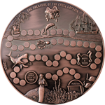 Coin with treasure hunt game