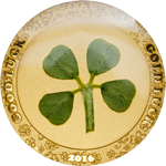 Four-leafed clover - Gold coin 2016