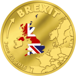 Brexit - Gold coin, 26 mm