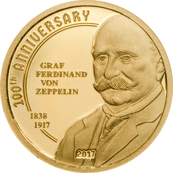 100th Anniversary of Graf Zeppelin, CIT Coin Invest Trust AG / B.H. Mayer, 28001