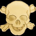 Golden Pirate Skull
