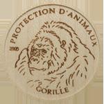 Wood coin - Gorilla