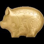 Gilded Jolly Pig