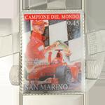 Coin with stamp: San Marino - Michael Schumacher